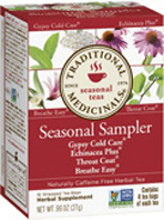 Seasonal Tea Seasonal Sampler 16 Tea Bags Traditional Medicinals