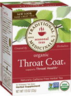 Seasonal Tea Throat Coat 16 Tea Bags Traditional Medicinals