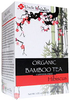 Organic Bamboo Tea Hibiscus 18 bags Uncle Lee's Tea