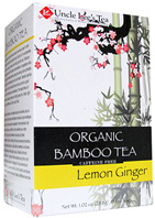 Organic Bamboo Tea Lemon Ginger 18 bags Uncle Lee's Tea