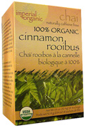 Imperial Organic Chai Tea Cinnamon Rooibos 18 bags Uncle Lee's Tea