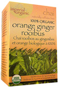 Imperial Organic Chai Tea Orange Ginger Rooibos 18 bags Uncle Lee's Tea