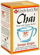 Organic Chai Tea Orange Ginger 18 bags Uncle Lee's Tea