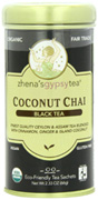 Black Tea Coconut Chai, 22 ct. Zhena's Tea