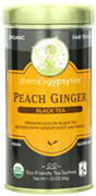 Black Tea Peach Gingera, 22 ct. Zhena's Tea
