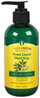 Neem Liquid Hand Soap Gentle & Soothing 8 oz. Theraneem Naturals