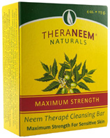Neem Therape Cleansing Bar Soap Maximum-Strength 4 oz. Theraneem Naturals