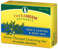 Neem Therape Cleansing Bar Soap Men's Shaving 4 oz. Theraneem Naturals