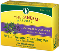 Neem Therape Cleansing Bar Soap Oatmeal & Lavender 4 oz. Theraneem Naturals