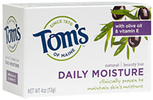 Natural Beauty Bar Soap Daily Moisture 4 oz. Toms of Maine