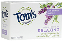 Natural Beauty Bar Soap Relaxing 4 oz. Toms of Maine
