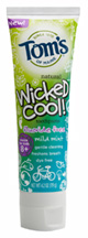 Natural Wicked Cool Mild Mint Toothpaste Fluoride Free 4.2 oz. Tom's of Maine
