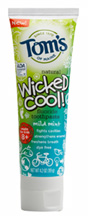 Natural Wicked Cool Mild Mint Toothpaste Fluoride 4.2 oz. Tom's of Maine