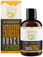 Activated Charcoal Honey Cleanser 4 oz. Valley Green Naturals
