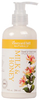 Hand & Body Lotion Milk & Honey 9 oz. Vineyard Hill Naturals