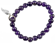 Art of Luck Friendship Bracelet Amethyst Angel Wing Charm Zorbitz Inc.