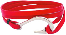 Hook & Co. Leather Bracelet Red Zorbitz Inc.