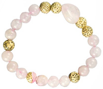 Live, Love, Hope Bracelet Faith & Hope Rose Quartz Zorbitz Inc.
