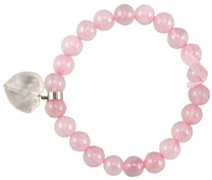 Live, Love, Hope Bracelet Love Rose Quartz Heart Zorbitz Inc.