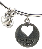 Recycle Bangle Bracelet Live Laugh Love Zorbitz Inc.