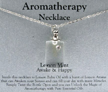 Aromatherapy Necklace Lemon Mint Awake & Happy Zorbitz Inc.
