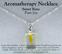 Aromatherapy Necklace Sweet Rose  Pure Joy Zorbitz Inc.
