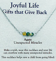 Joyful Life Necklace Agate / Unexpected Miracles Zorbitz Inc.