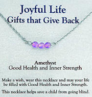 Joyful Life Necklace Amethyst / Good Health & Inner Strength Zorbitz Inc.