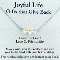 Joyful Life Necklace Genuine Pearl / Love & Friendship Zorbitz Inc.