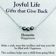 Joyful Life Necklace Hematite / Happiness Zorbitz Inc.
