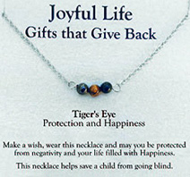 Joyful Life Necklace Tigers Eye / Protection Zorbitz Inc.