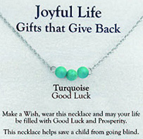 Joyful Life Necklace Turquoise / Good Luck Zorbitz Inc.
