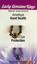 Lucky Gemstone Rings Amethyst (Good Health) / Tigers Eye (Protection) Zorbitz Inc.