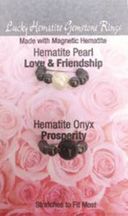 Lucky Gemstone Rings Hematite Pearl (Love Friendship) / Hematite Onyx (Properity) Zorbitz Inc.